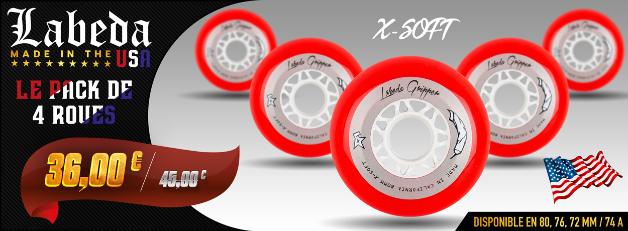 Roues Labeda Gripper X-soft en promo sur Pro Patinage