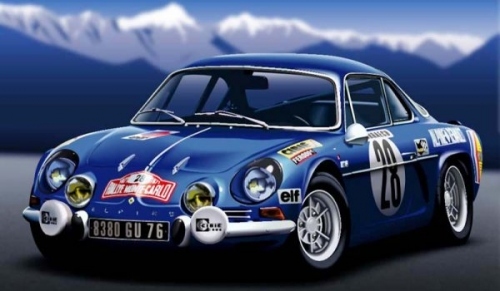 License plates for Renault Alpine A110