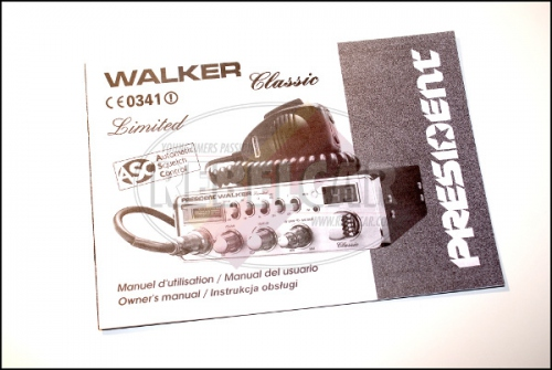 Radio CB President WALKER ASC Classic Chrome