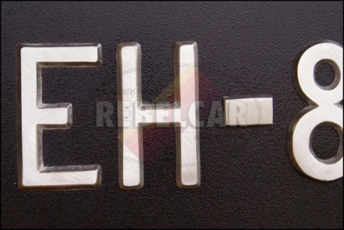 US BLACK Plate Maillefaud size 30 x 15.5 cm with US PLATE SUPPORT made of metal, CHROME version