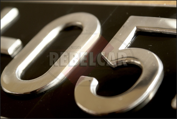 MAILLEFAUD BLACK short 455x100 mm license plate