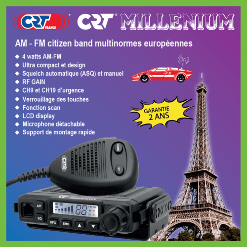 Radio CB CRT Millenium, version la plus récente