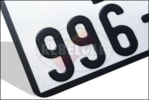 White motorcycle plate US 17,5x10 cm white aluminum with outline, without logos