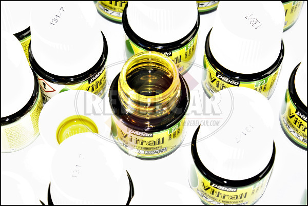 Yellow paint small bottle 45ml for headlight