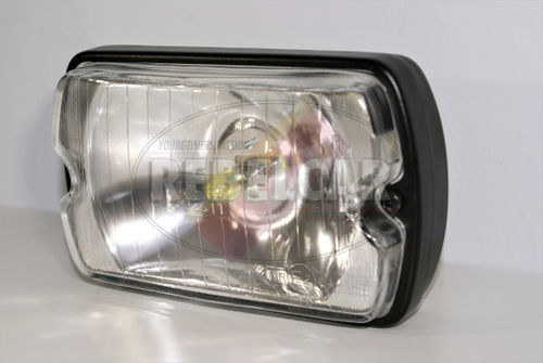 White-glass lower headlight for Peugeot 205 GTI