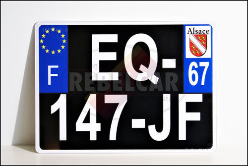 Tailor-made / taylor-sized PLEIGLASS (plastic) license plate