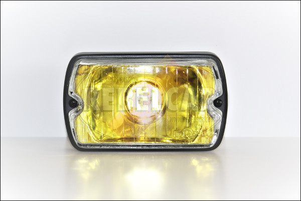 Long range headlight with yellow casing and white glass for Peugeot 205 GTI