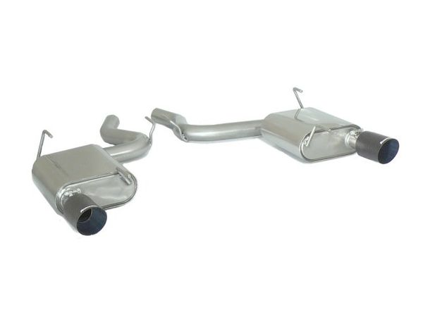 Silencieux arrière duplex inox sorties carbone 102 mm Ragazzon pour Ford Mustang VI 2.3 Ecoboost