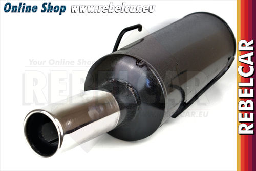 EC approved muffler round outlet 76mm for 205 GTI / CTI 1.6 / 1.9 - flange