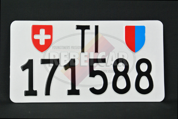 License plate SWITZERLAND ACCURATE dimensions 30 x 16 cm - Canton of your choice