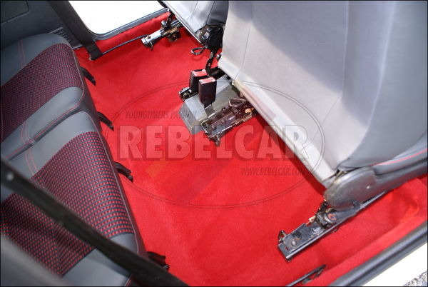 Vloermat 205 Gti.Red Thermoformed Carpet For Peugeot 205 Gti