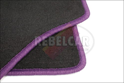 Set of BLACK 205 GTI carpets, made on demand, indicative making time from 5 to 8 weeks