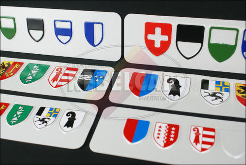 Swiss aluminum Valais Canton license plate, accurate size 300x160 mm