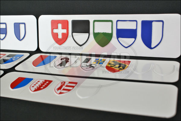 Swiss license plate from Lucerne Canton ACCURATE size 50x11 cm