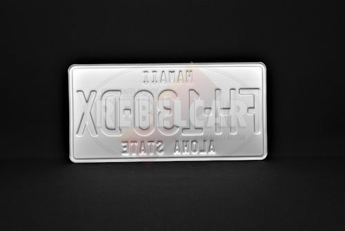 US Aluminum GREEN Plate 300x150 mm with WHITE DIGITS and WHITE BORDER
