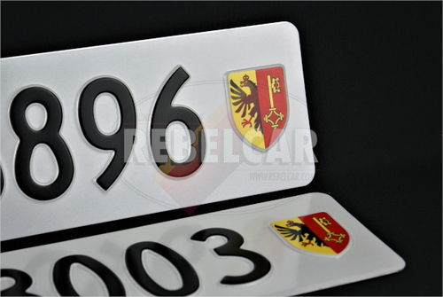 SWISS license plate, ACCURATE size 50 x 11 cm - Canton of your choice