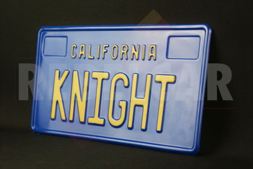 Plaque d'immatriculation CALIFORNIA bleue KNIGHT de la Pontiac Firebird Trans Am 1982 dans la série K2000