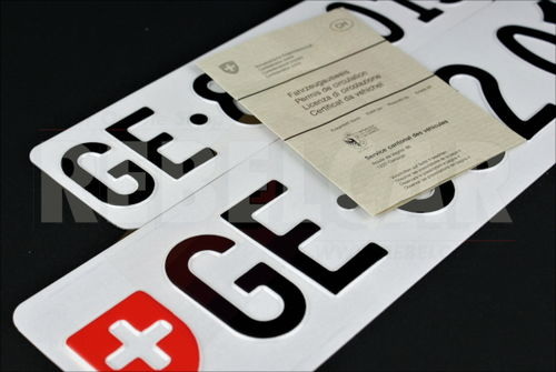 Front plate Switzerland EXACT format 30x8 cm - all cantons