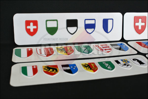 Swiss license plate from Basel-Stadt canton ACCURATE size 50x11 cm