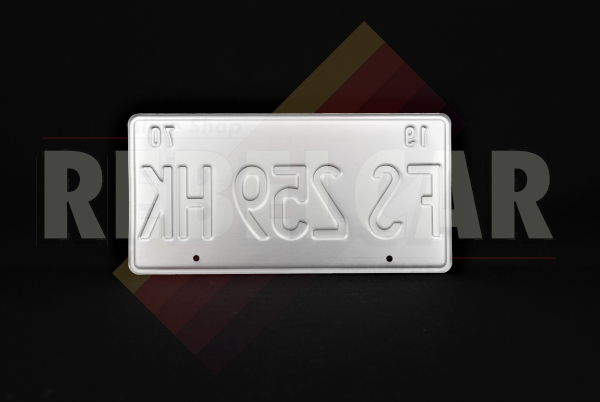 """US IDHAO """"FAMOUS POTATOES"""" license plate with mountain scene, red and white gradient sky, WHITE BORDER, size 300x150 mm / 12x6"""""""