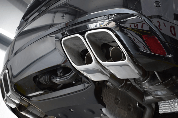 """Stainless steel sport exhaust system with """"Sound Architect"""" system for Range Rover Velar SVA P550 from 2020, available on order, will be shipped from REBELCAR premises"""