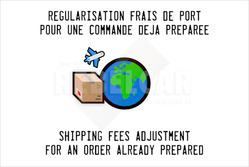 Difference to settle for the shipping fees