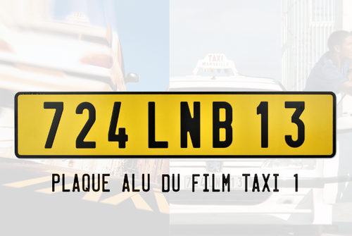 License plate 724 LNB 13 of the movie Taxi 1 from 1998 (Peugeot 406)