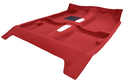 RED thermoformed carpet for Peugeot 205 GTI - fitting phase 1 or 2