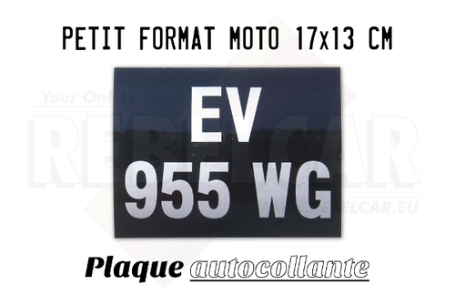 VINYL ADHESIVE BLACK bike 170 x 130 mm license plate