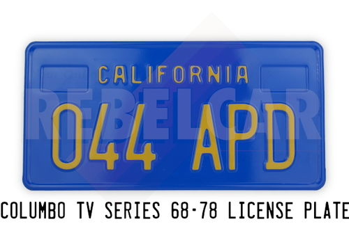 License Plate CALIFORNIA 044 APD of the Columbo Series (NBC years)