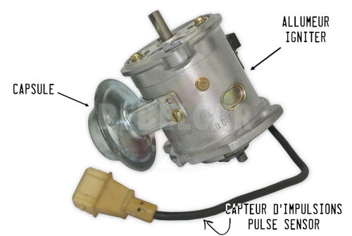 Standard exchange for a complete igniter BOSCH 0237009066 for Peugeot 205 GTI 1.9 130 HP (igniter, capsule and wire) - commercial warranty