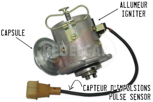 Standard exchange for a complete igniter BOSCH 0237009063 or 0237009086 for Peugeot 205 GTI 1.6 115 HP (igniter, capsule and wire) - commercial warranty