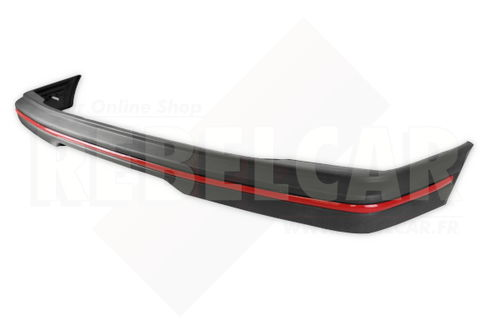 BLACK REAR bumper WITH RED TRIM for Peugeot 205 GTI, including the 4 big screws