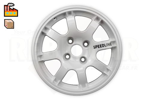 SL434/W1 WHITE PTS SPEEDLINE rim for Peugeot 106/205/306/309 and Citroën Saxo/ZX