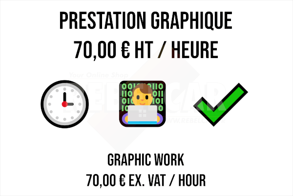 Graphic service - hourly rate based on € 70.00 excl.VAT per hour of work
