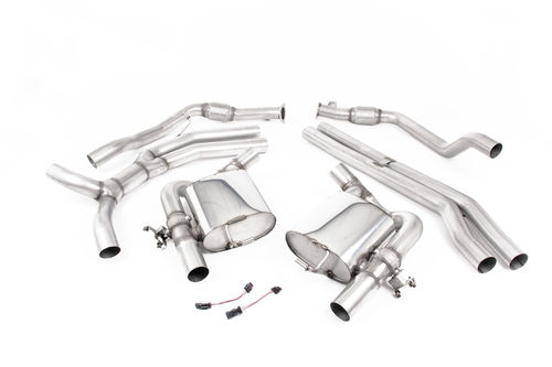 Full inox exhaust system non-resonated for Audi RS4 B9 2.9 V6 Turbo Avant (Non OPF/GPF Models) from 2018