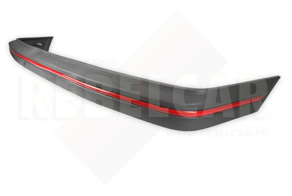 LIGHT GREY FRONT bumper WITH RED TRIM for Peugeot 205 GTI phase 1, including the 4 big screws
