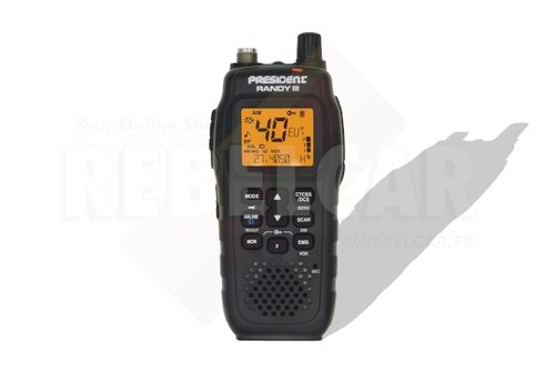 Mobile and portable CB President radio Randy III AM/FM