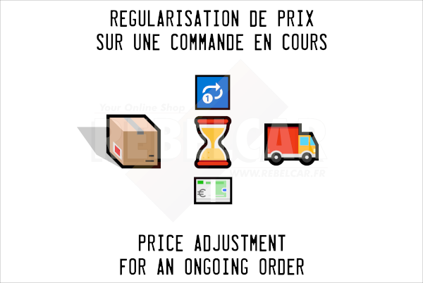 Price adjustment   cause : price increased by the manufacturer (shipping ex works)