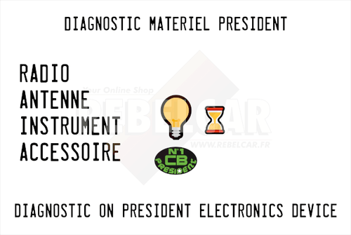 One diagnostic on a PRESIDENT ELECTRONICS device