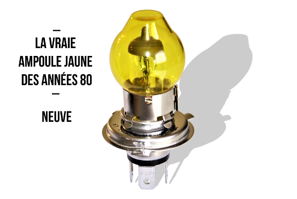 Headlight bulb H4 with yellow globe 12V 55/60W