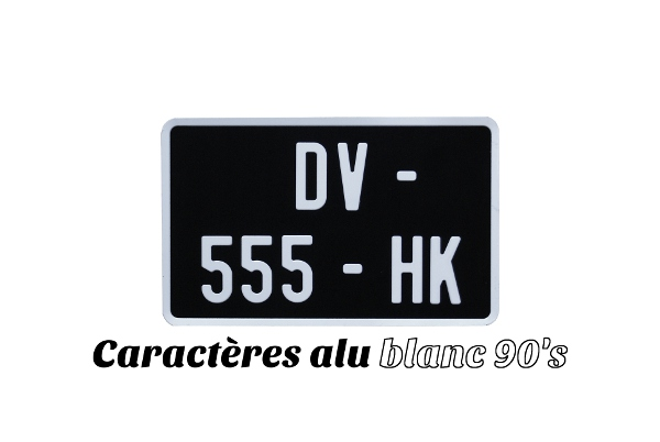 plaque moto noire siv carr e 21x13 blanc siv. Black Bedroom Furniture Sets. Home Design Ideas