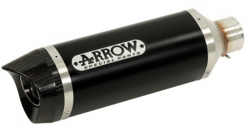 Silencieux Arrow Street Thunder Aluminium Dark embout carbone