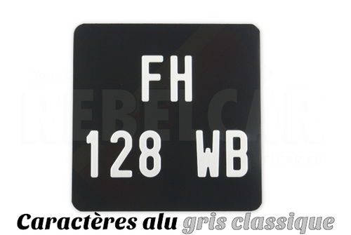 Cyclo aluminum plate BLACK square 17x17 cm ALU GRAY, WITHOUT LISERÉ, rounded corners