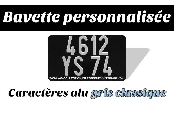 plaque moto us noire 17x10 alu gris avec bavette personnalis e. Black Bedroom Furniture Sets. Home Design Ideas