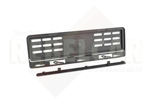 FRONT plate holder Swiss format 300x80 mm WITH REMOVABLE TAB (2 individual elements)