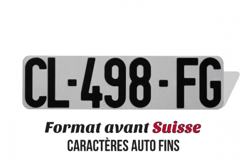 License plate bialu WHITE in Swiss format 30x8 cm