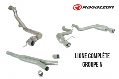 Ligne complète groupe N inox Ragazzon pour Ford Mustang VI 2.3 Ecoboost / reprogrammation ECU requise