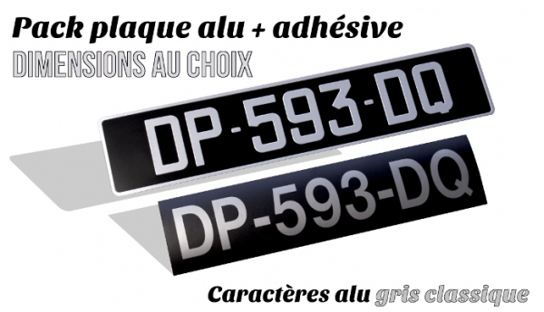 Pack plate ALU + plate ADHESIVE NOIRES collection dimensions to the choice