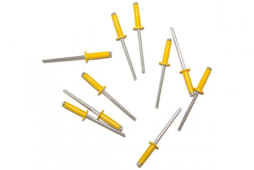 Lot de 10 rivets jaunes
